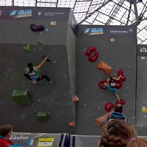 Boulder Weltcup 2016 München